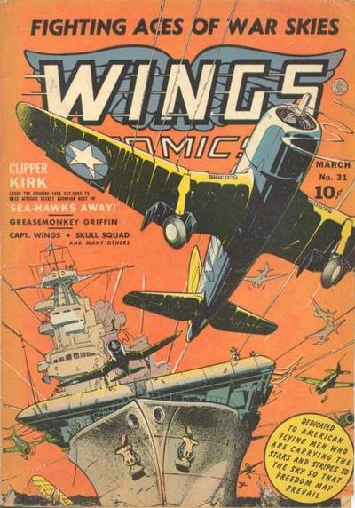 Cover for Wings Comics (Fiction House, 1940 series) #31