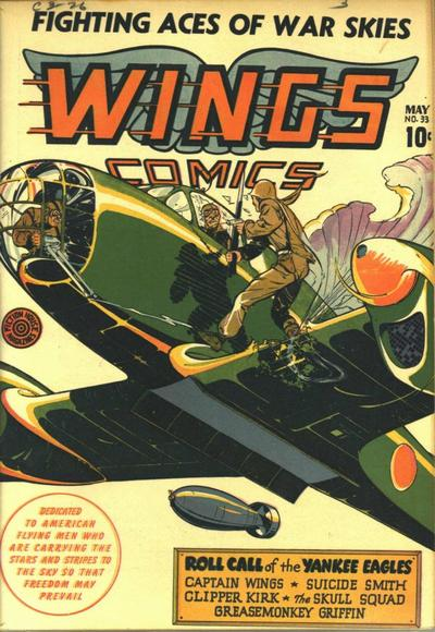 Cover for Wings Comics (Fiction House, 1940 series) #33