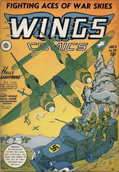 Cover for Wings Comics (Fiction House, 1940 series) #35