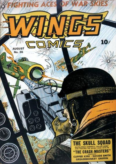 Cover for Wings Comics (Fiction House, 1940 series) #36