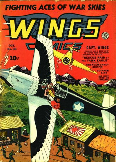 Cover for Wings Comics (Fiction House, 1940 series) #38
