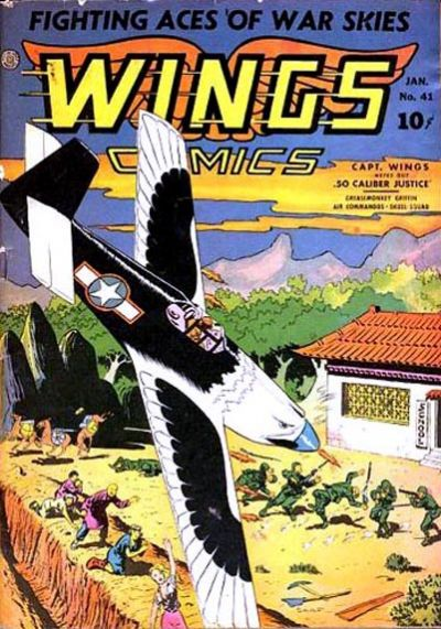 Cover for Wings Comics (Fiction House, 1940 series) #41