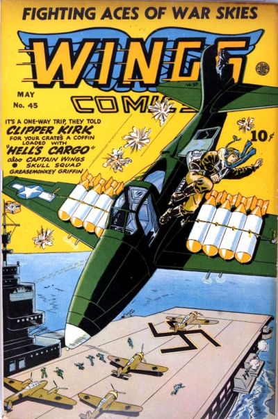 Cover for Wings Comics (Fiction House, 1940 series) #45