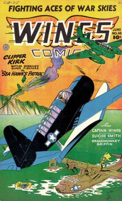 Cover for Wings Comics (Fiction House, 1940 series) #46
