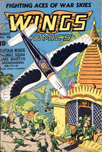 Cover for Wings Comics (Fiction House, 1940 series) #48