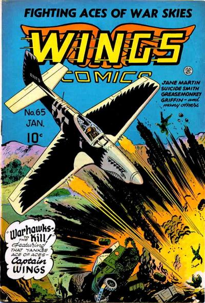 Cover for Wings Comics (Fiction House, 1940 series) #65