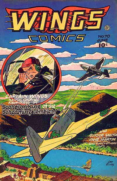 Cover for Wings Comics (Fiction House, 1940 series) #70