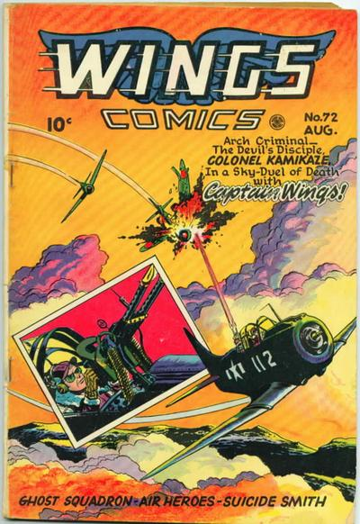 Cover for Wings Comics (Fiction House, 1940 series) #72