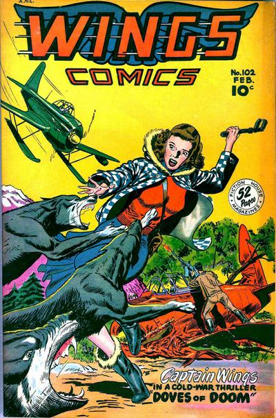 Cover for Wings Comics (Fiction House, 1940 series) #102