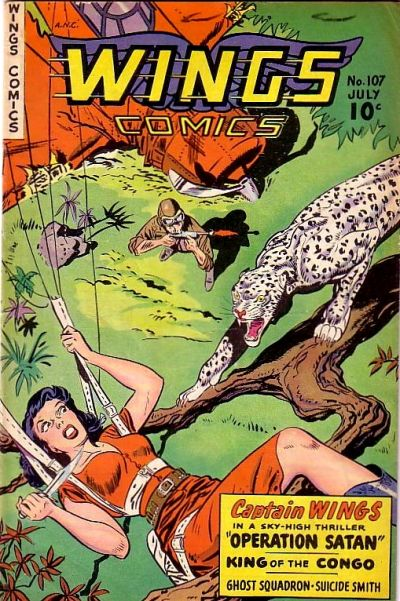 Cover for Wings Comics (Fiction House, 1940 series) #107