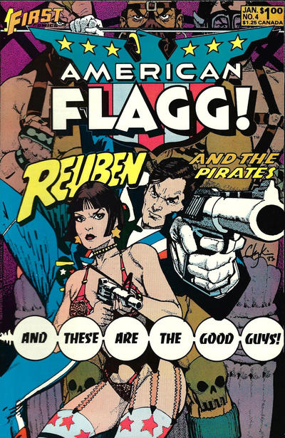 Cover for American Flagg! (First, 1983 series) #4