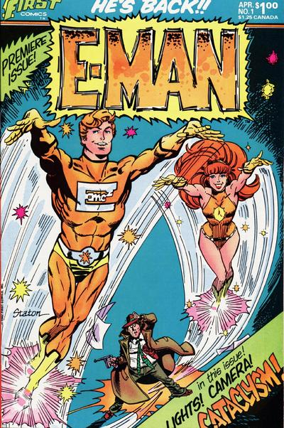 Cover for E-Man (First, 1983 series) #1