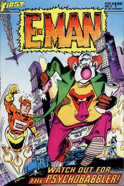 Cover for E-Man (First, 1983 series) #5