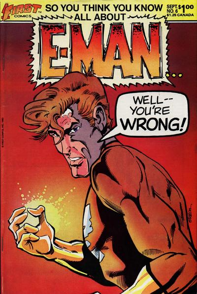 Cover for E-Man (First, 1983 series) #6