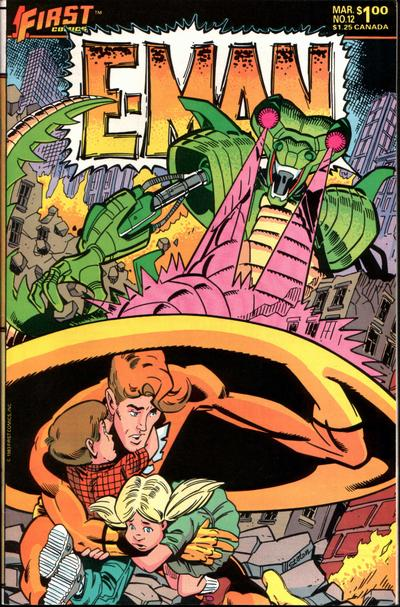 Cover for E-Man (First, 1983 series) #12