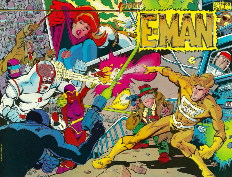 Cover for E-Man (First, 1983 series) #16