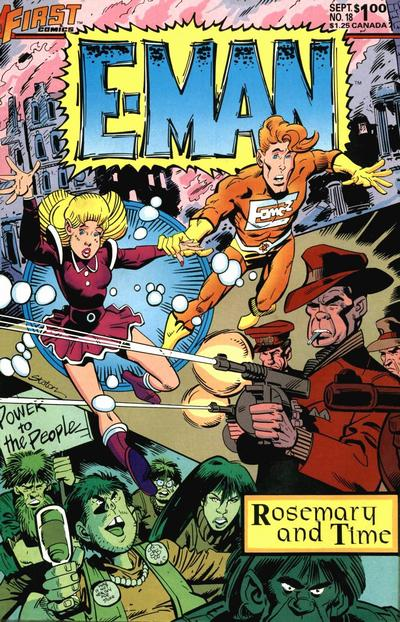 Cover for E-Man (First, 1983 series) #18