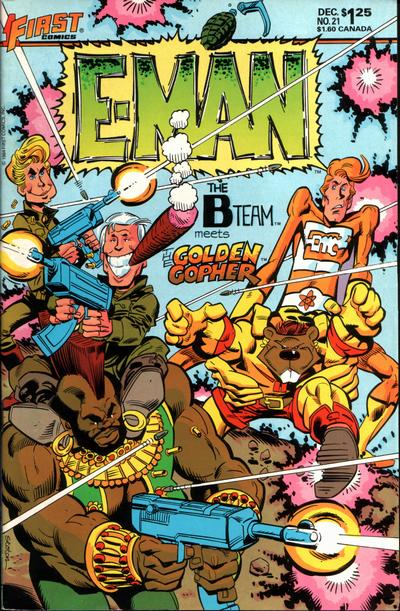 Cover for E-Man (First, 1983 series) #21