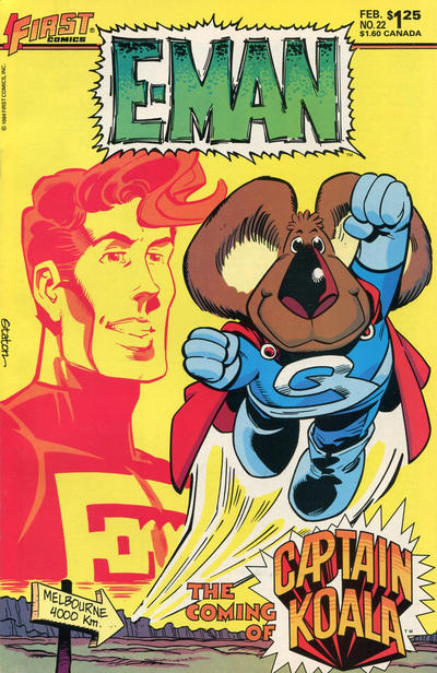 Cover for E-Man (First, 1983 series) #22