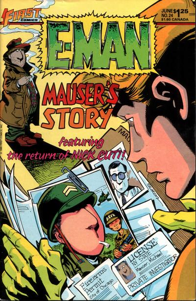 Cover for E-Man (First, 1983 series) #24