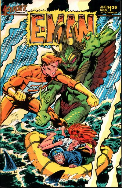 Cover for E-Man (First, 1983 series) #25