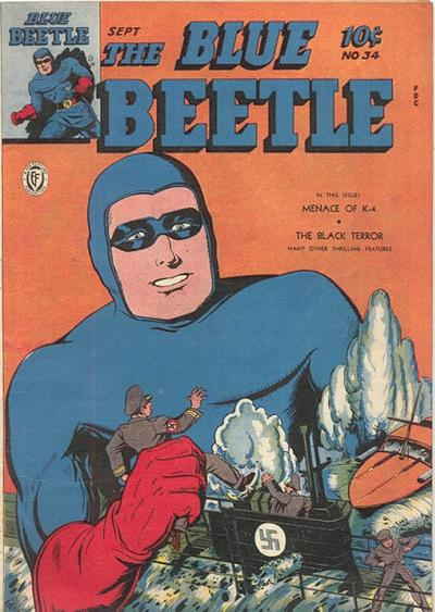Cover for Blue Beetle (Fox, 1940 series) #34