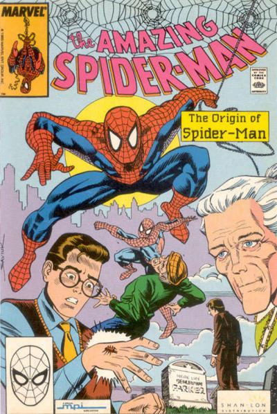 Cover for The Amazing Spider-Man: Origin of Spider-Man (Shan-Lon Enterprises, 1990 series)