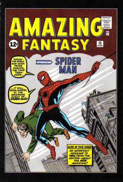 Cover for Amazing Fantasy No. 15 [MGA Die-Cast Car] (Marvel, 2007 series)