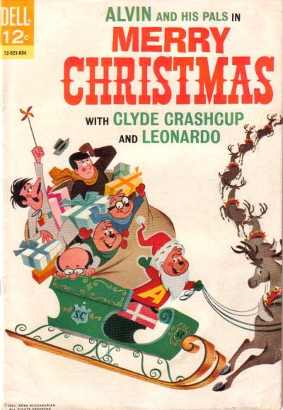 Cover for Alvin and His Pals in Merry Christmas with Clyde Crashcup and Leonardo (Dell, 1966 series) #1