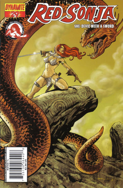 Cover for Red Sonja (Dynamite Entertainment, 2005 series) #29 [Mel Rubi Cover]
