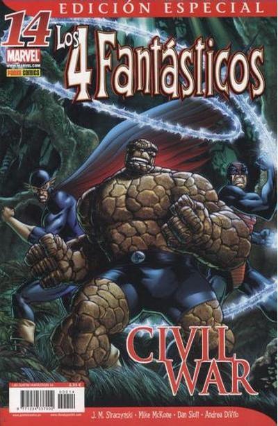 Cover for Los 4 Fantásticos (Panini España, 2006 series) #14