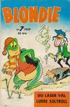 Cover for Blondie (Åhlén & Åkerlunds, 1956 series) #7/1959