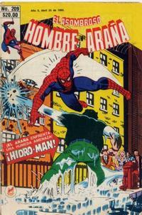 Cover Thumbnail for El Asombroso Hombre Araña (Novedades, 1980 series) #209