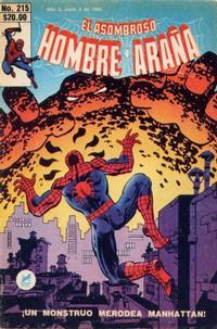Cover Thumbnail for El Asombroso Hombre Araña (Novedades, 1980 series) #215