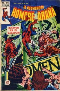 Cover Thumbnail for El Asombroso Hombre Araña (Novedades, 1980 series) #217