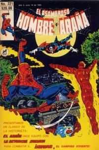 Cover Thumbnail for El Asombroso Hombre Araña (Novedades, 1980 series) #221