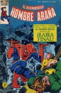 Cover Thumbnail for El Asombroso Hombre Araña (Novedades, 1980 series) #230