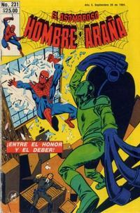 Cover Thumbnail for El Asombroso Hombre Araña (Novedades, 1980 series) #231