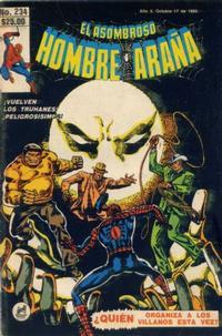 Cover Thumbnail for El Asombroso Hombre Araña (Novedades, 1980 series) #234