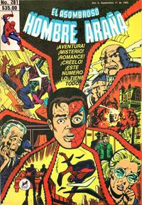 Cover Thumbnail for El Asombroso Hombre Araña (Novedades, 1980 series) #281