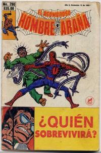Cover Thumbnail for El Asombroso Hombre Araña (Novedades, 1980 series) #290