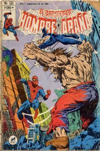 Cover Thumbnail for El Asombroso Hombre Araña (Novedades, 1980 series) #335