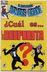 Cover Thumbnail for El Asombroso Hombre Araña (Novedades, 1980 series) #339