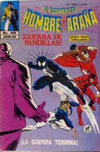 Cover Thumbnail for El Asombroso Hombre Araña (Novedades, 1980 series) #408