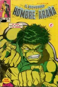 Cover Thumbnail for El Asombroso Hombre Araña (Novedades, 1980 series) #418