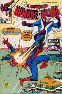 Cover Thumbnail for El Asombroso Hombre Araña (Novedades, 1980 series) #457