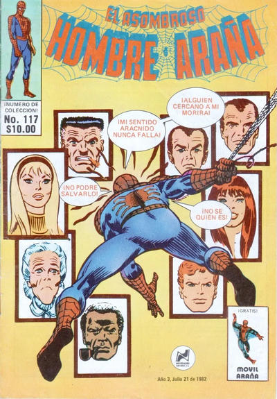 Cover for El Asombroso Hombre Araña (Novedades, 1980 series) #117