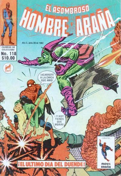 Cover for El Asombroso Hombre Araña (Novedades, 1980 series) #118