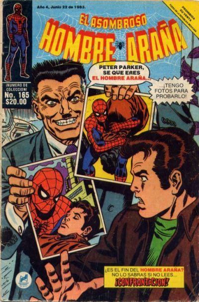 Cover for El Asombroso Hombre Araña (Novedades, 1980 series) #165