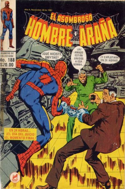 Cover for El Asombroso Hombre Araña (Novedades, 1980 series) #188